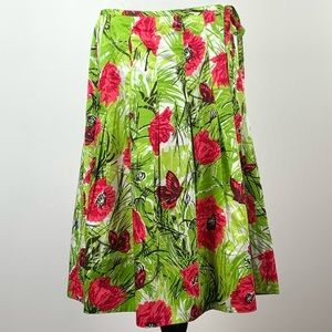 Talbots women's skirt size 8 multicolored floral